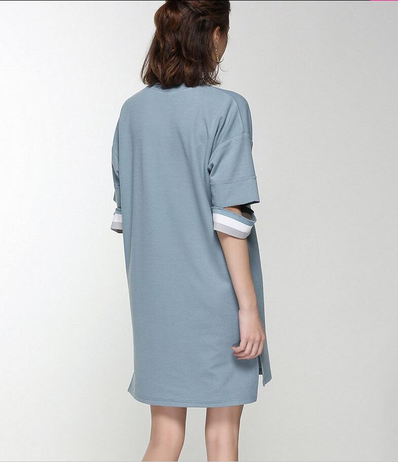 Spring Round Neck Special Sleeve Elegant Women's Dress