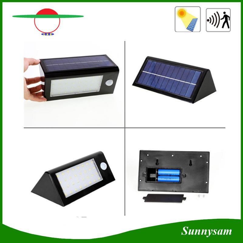 3.5W 32LED Soar Wall PIR Sensor Light for Outdoor Garden
