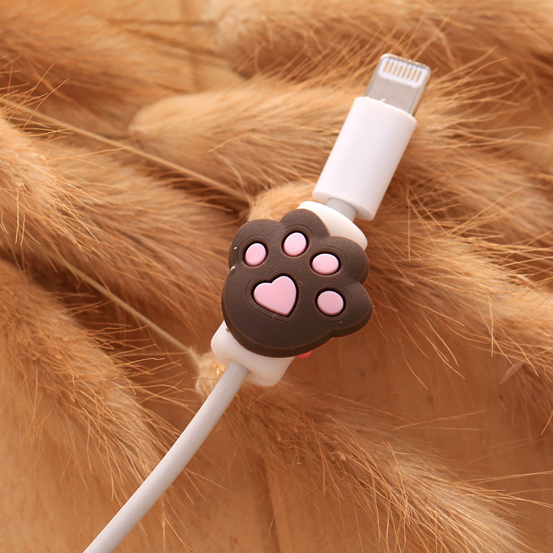 Cartoon USB Cable Wire Charger Protector Saver for Headphone&USB Charger Cable Cord
