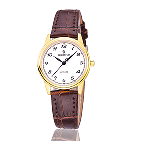Cheap Sapphire Watch Leather Strap Quartz Couple Wrist Watch