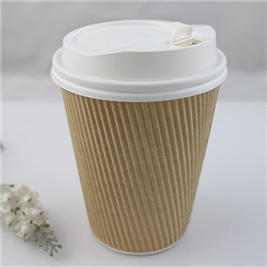 Eco-Friendly Logo Printed Disposable Paper Cups, Coffee Paper Cup with Lid
