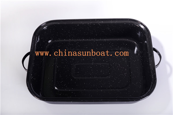 Sunboat Kitchenware/ Kitchen Appliance Bakeware Enamel Tray Food Plate Bake Plate with Enamel Cover