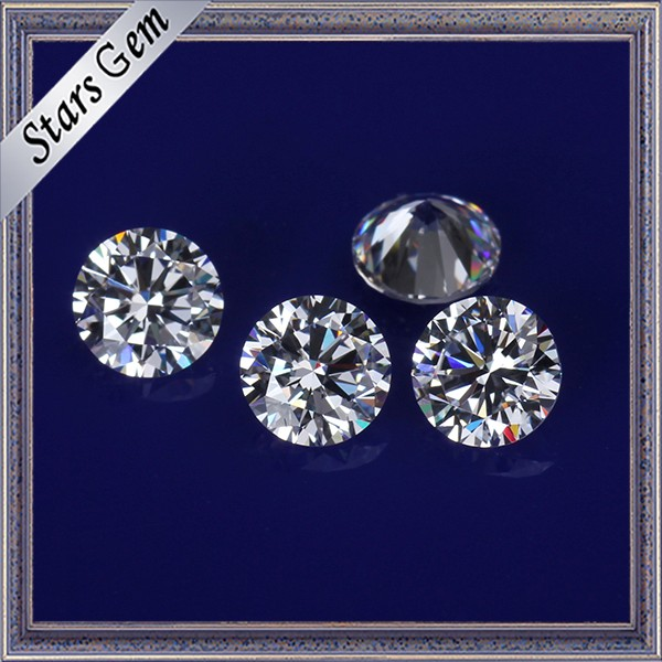 Aaaaa High Grade Clear White Synthetic Cubic Zirconia Stones for CZ Jewelry