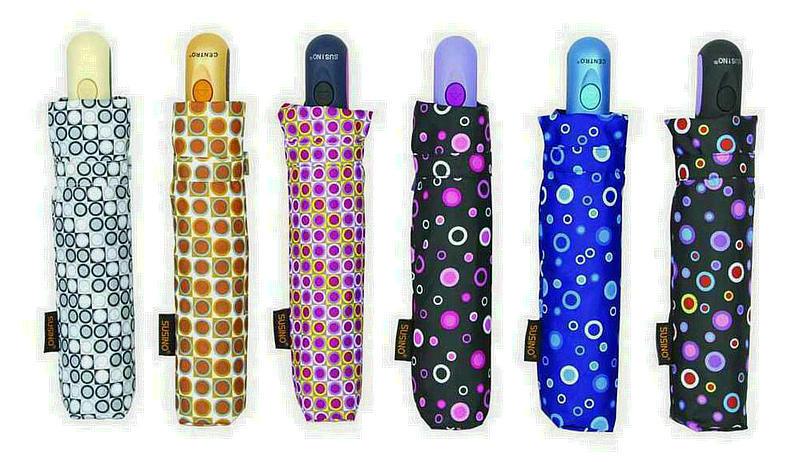 Colorful DOT 3 Fold Windproof Auto Umbrellas (YS-3FA22083962R)