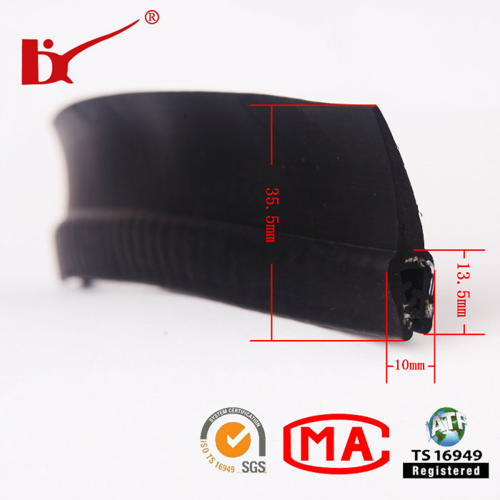 Car Accessory EPDM Extruded Rubber Door Weatherstripping Profile