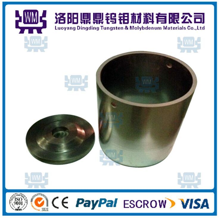 High Temperature 99.95% Pure Polished Sintered Molybdenum Crucible/Crucibles or Tungstencrucible/Crucibles for Sapphire Growing Furnace Factory Price