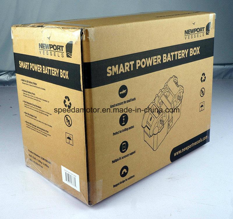Electric Trolling Motor Smart Battery Box Power Center Black