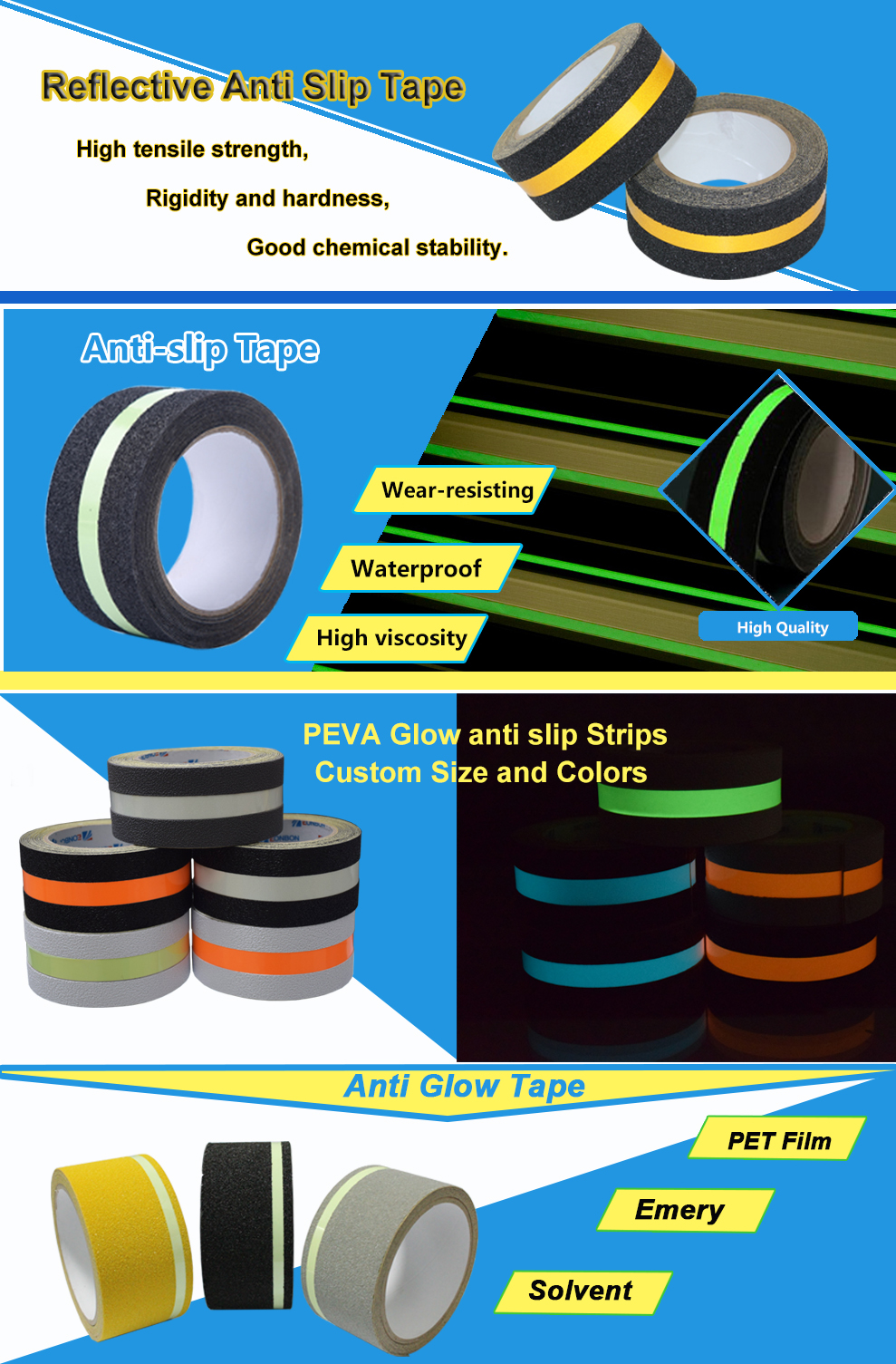 Non-Skid Floor Marking Tape With SGS