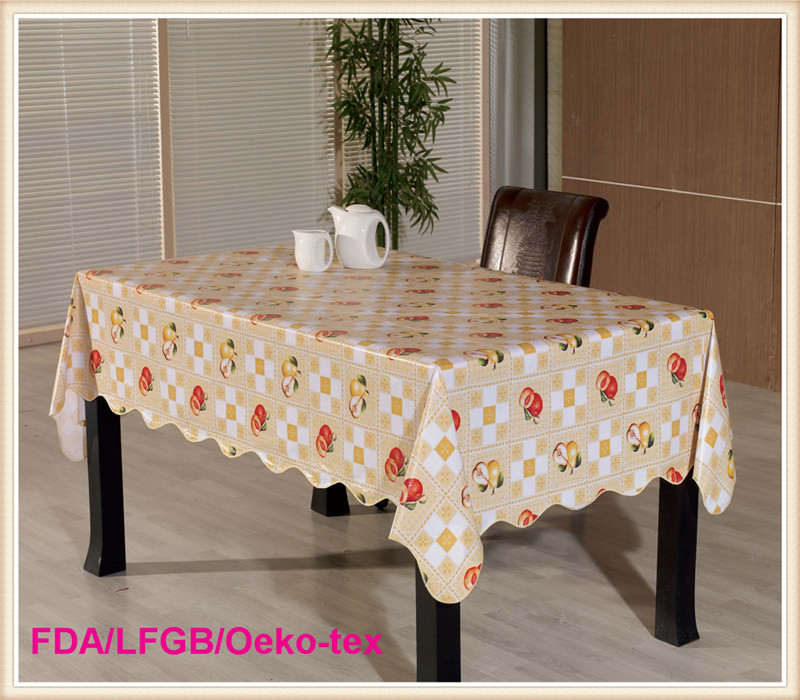 Waterproof and Oilproof PVC Table Cloths for Home and Restaurant Use