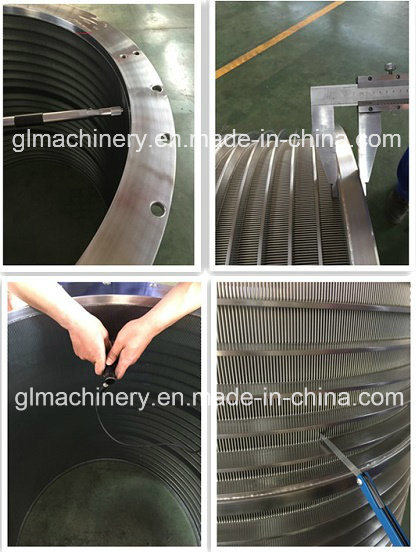 Ss Wire Mesh Pressure Screen Basket for Paper Pulp Machine