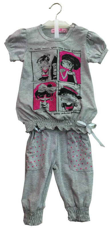 Fashion Flower Girl Baby Clothes in Children Kids T-Shirt with Printingsgt-079