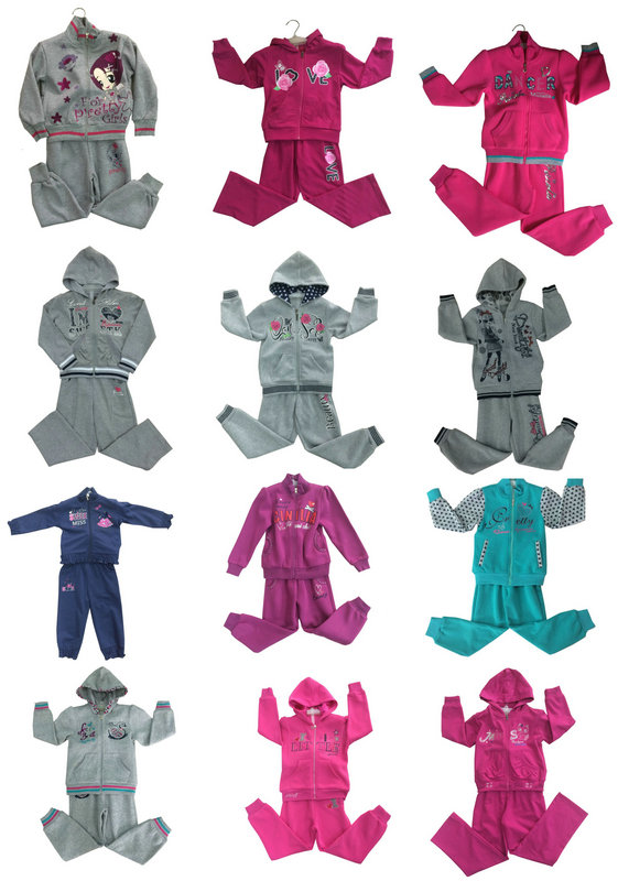 Leisure Fashion Track Suit Sweatshirt Hoodies in Children Clothes for Sport Wear Swg-124