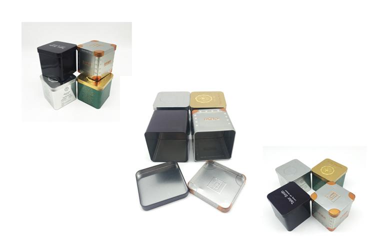 Square Tin Wholesale Metal Tea Tin Box