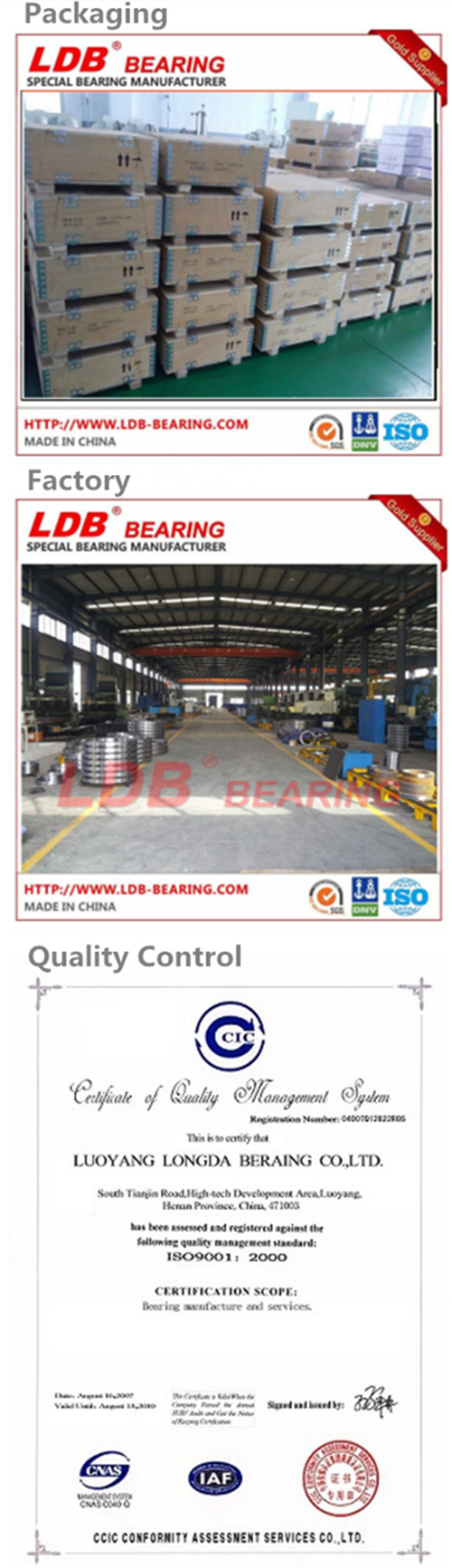 Slewing Bearing Slewing Ring for Ship, Wind Turbine, Excavator