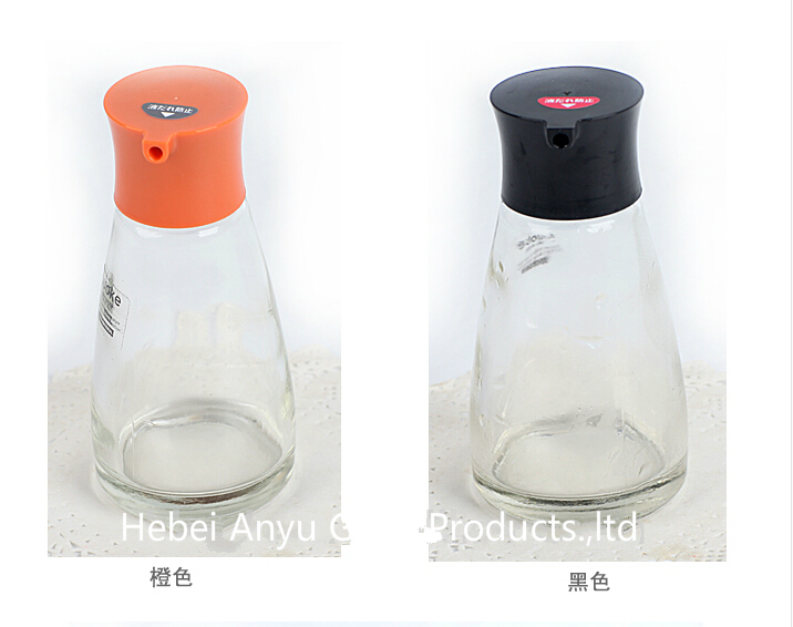Factory Wholesale 80 Ml Glass Condiment Spice Bottle BBQ Pepper Salt Glass Bottle