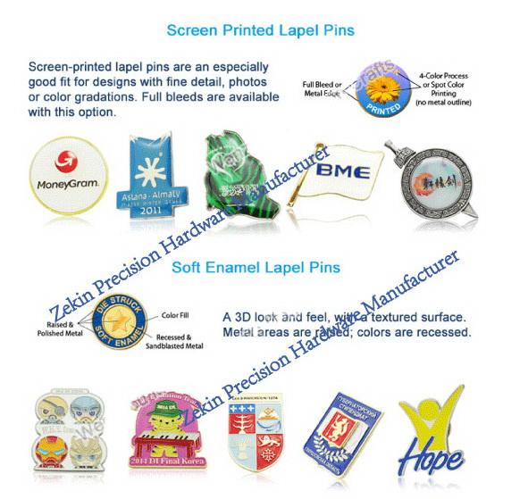 Wholesale Custom Made Metal Name Enamel Pin Badge with Epoxy