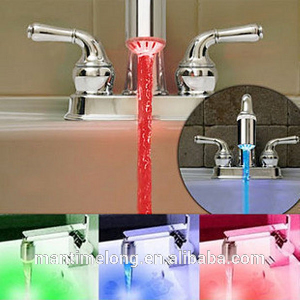 water tap plastic water tap water tap with 3 Color LED light ...