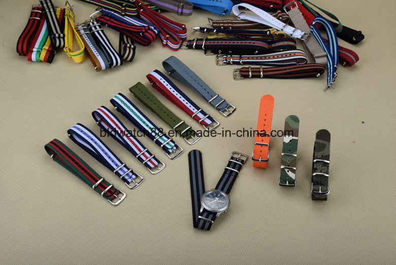 Custom Logo Nylon Cross Watch Bands for Naton Watch Replace