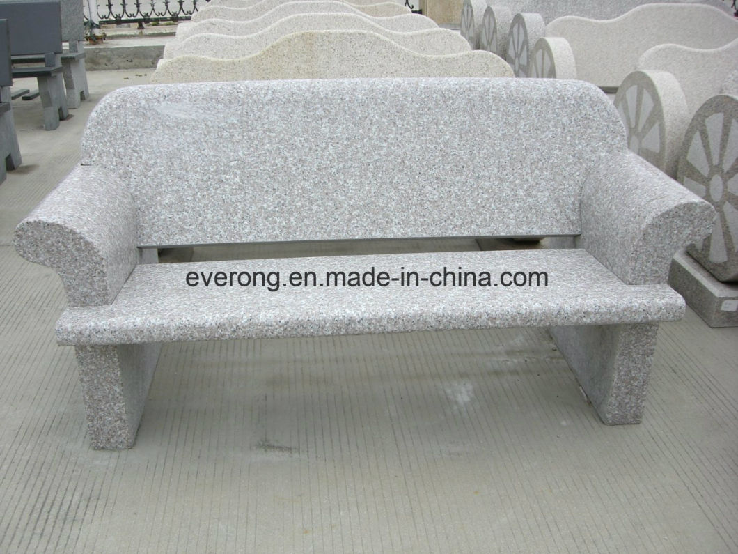 Cheap Granite Garden/Park/Plaza Stone Bench/Chair and Table for Outdoor Decoration