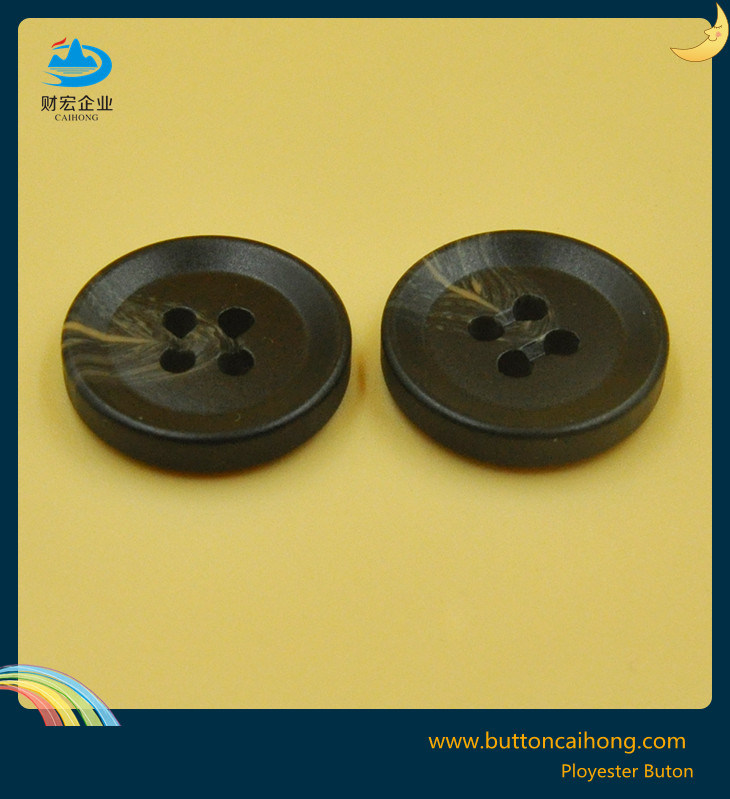 Imitation Horn Button with 4 Holes for Men Trouseres