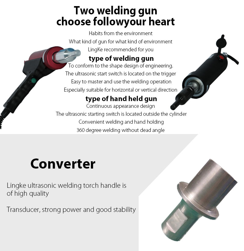 28/30/35/40kHz Ultrasonic Hand Gun Welder