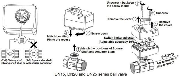 2/3 Way Motorized Hydraulic Proportional Zone Ball Valve (HTW-MV03)