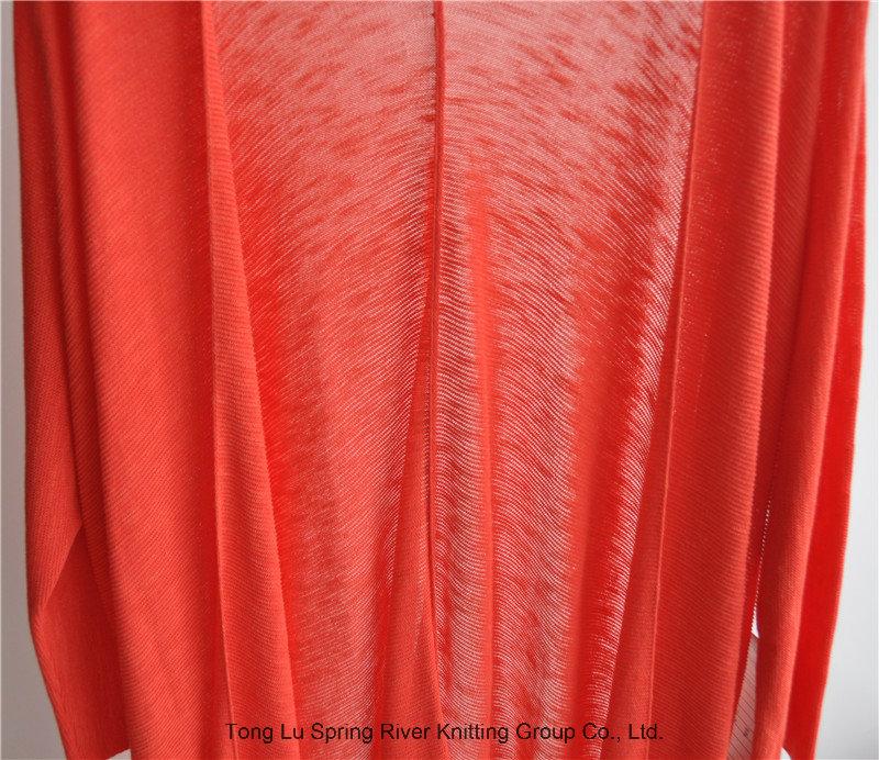 Women Longline Opean Pure Color Knit Cardigan