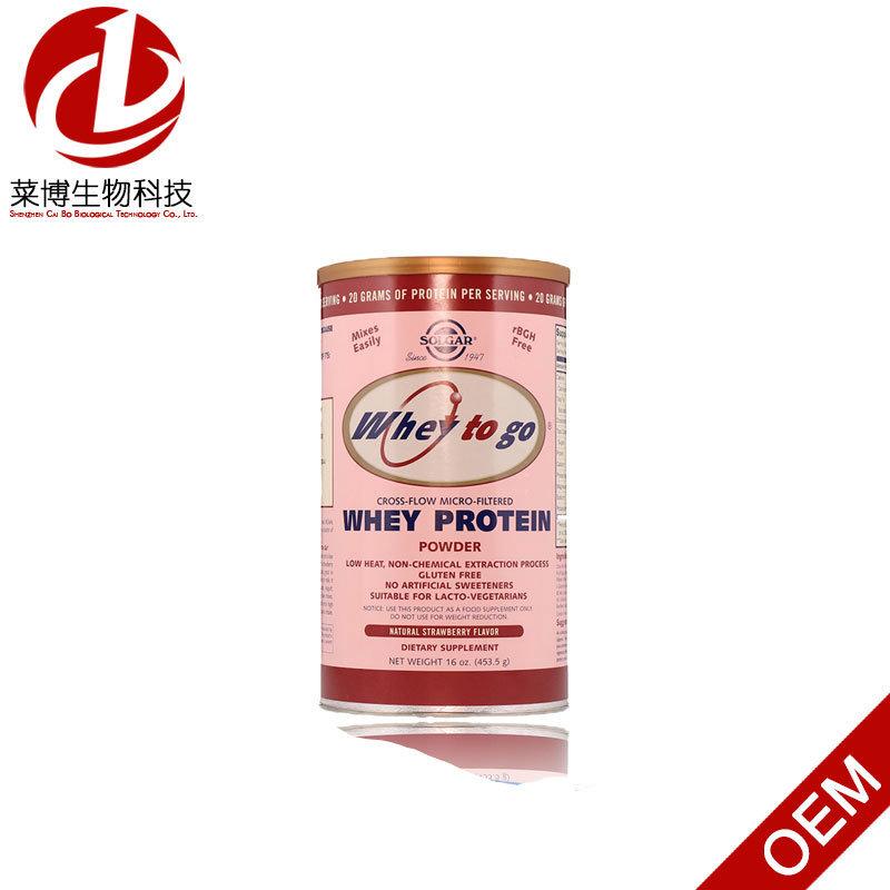 Solgar, Whey to Go, Whey Protein Powder, Natural Strawberry Flavor, 16 Oz (454 g)