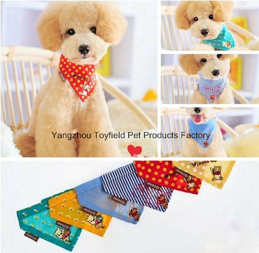 Pet Scarf Cat Collar Cotton Printed Dog Bandana