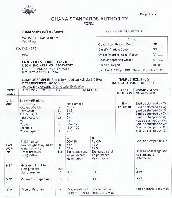 LPG Gas Cylinder&Steel Gas Cylinder