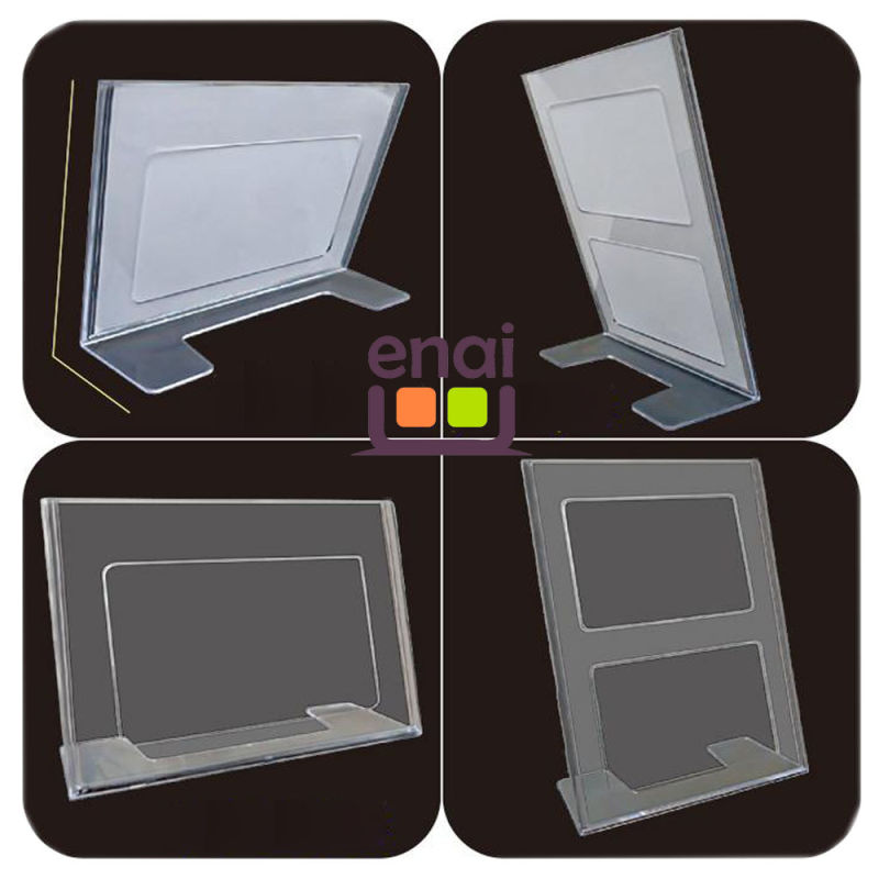 Cheap and Good Quality Plastic Transparent Card Stand for Stationery