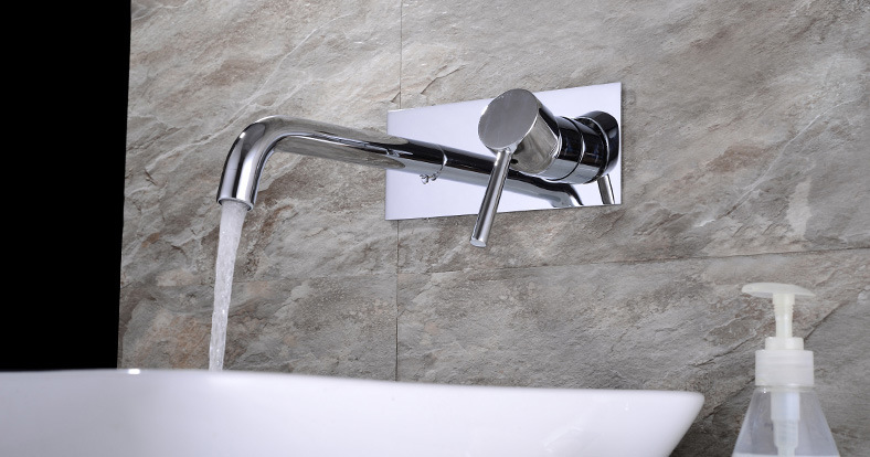 Conceal Style Brass Wall Basin Faucet