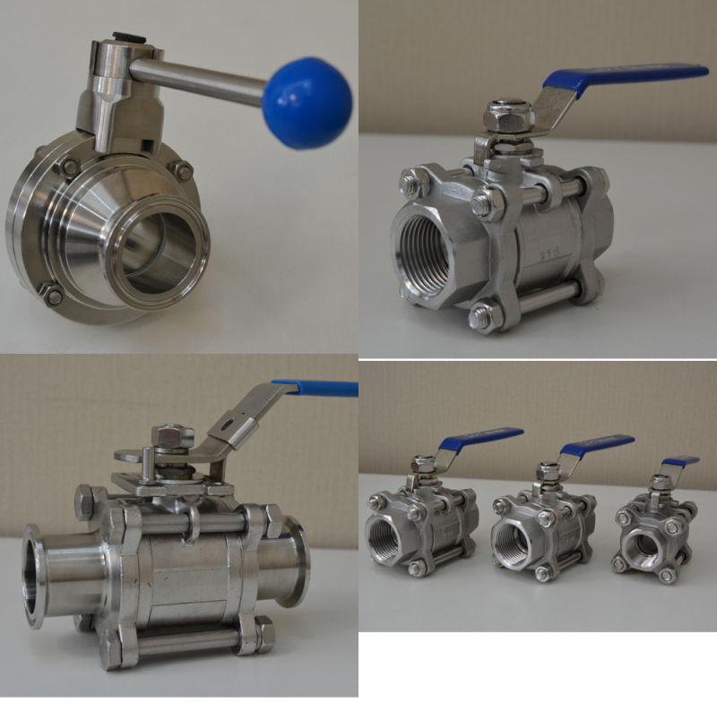 Stainless Steel Sanitary Three Way Ball Valve (JN-BLV2004)
