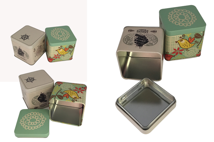 Chinese Square Tea Tin Box Packaging for Tea Wholesale