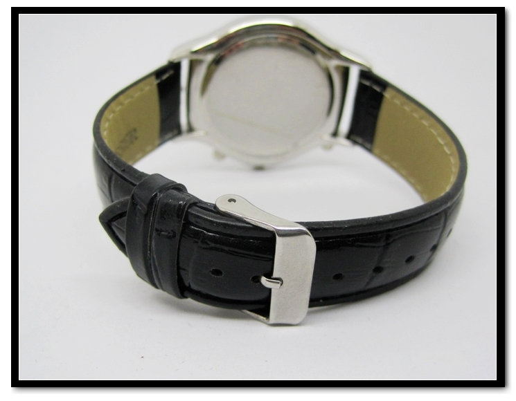 Hot Selling Leather Band Watches for Men Black Leather Watch Band