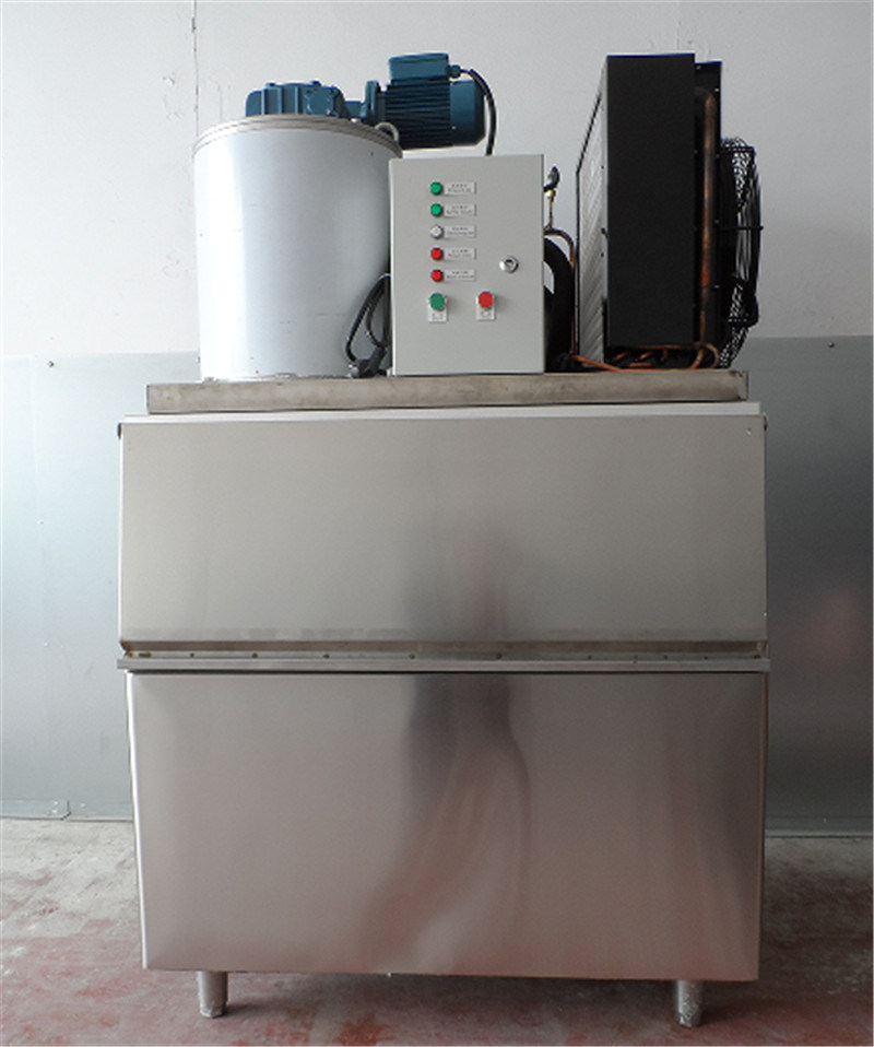 500kg/Day Flake Ice Machine on Board Industrial Ice Flake Machine