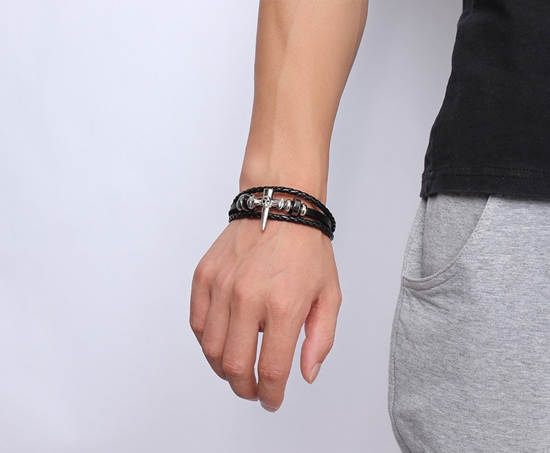 Fashion Accessories Leather Jewelry Leather Bracelet (LB569)
