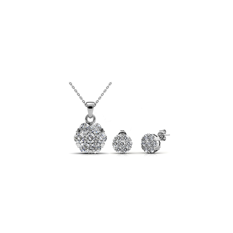 Destiny Jewellery Crystal From Swarovski Brilliance Set Pendant and Earrings