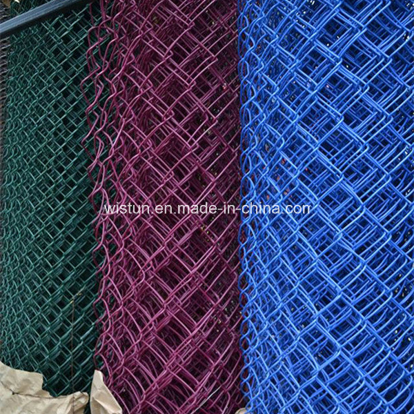 China Factory Galvanized/PVC Coated Chain Link Fence Diamond Wire Mesh