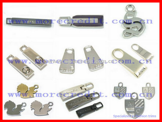 Debossed Brand Decorative Metal Zipper Puller for Garment