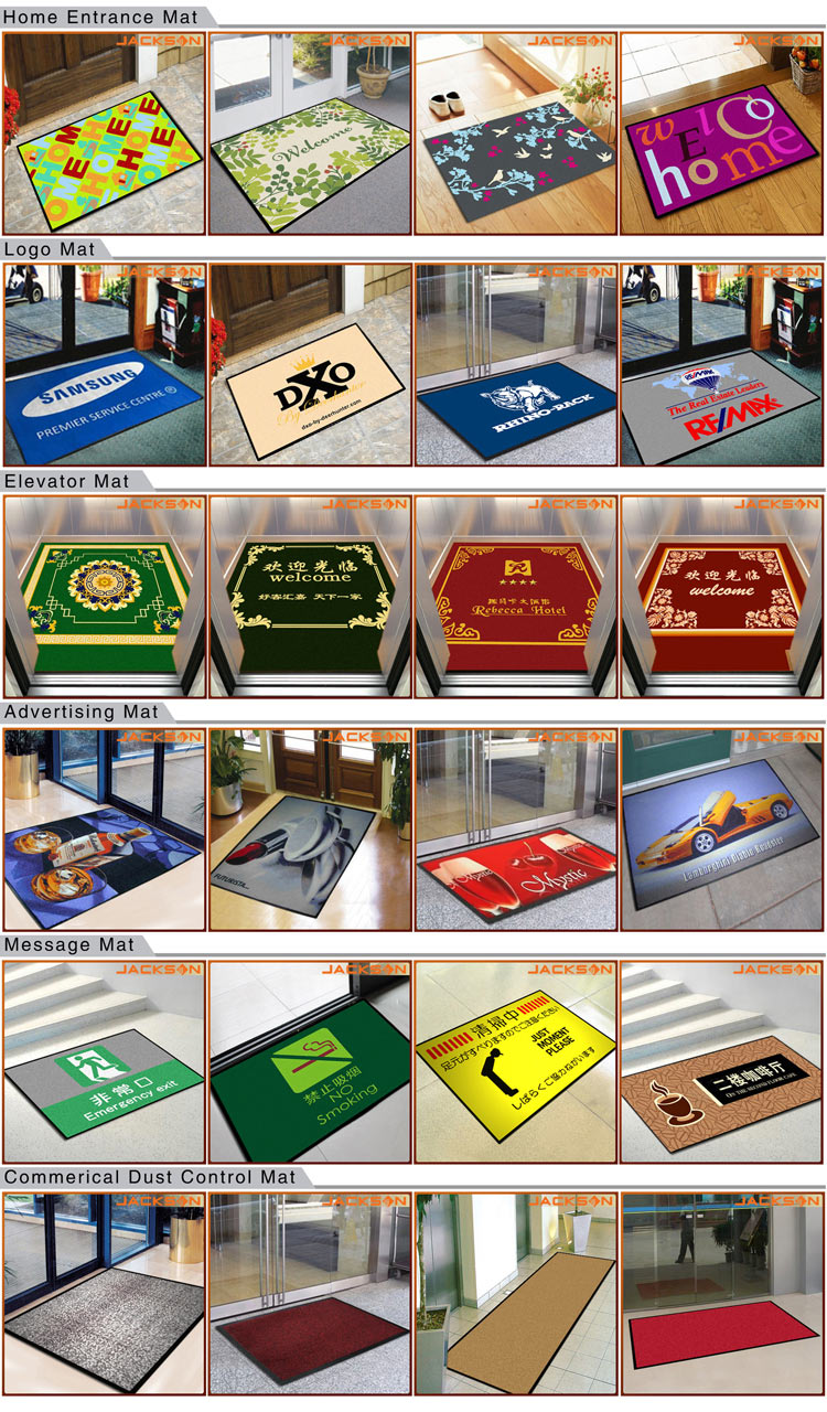High Quality Promotional Anti Slip Custom Print Logo Door Mat