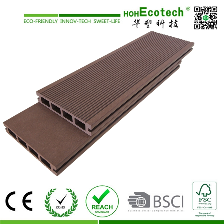 Wood Plastic Composite Decking Floor for Veranda and Patio