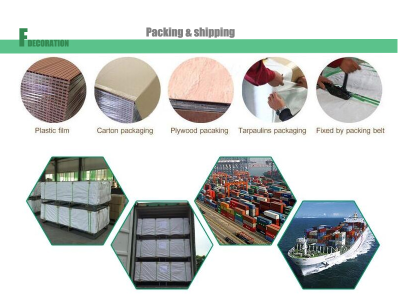 Outdoor Hollow Crack-Resistant Long Lasting WPC Decking