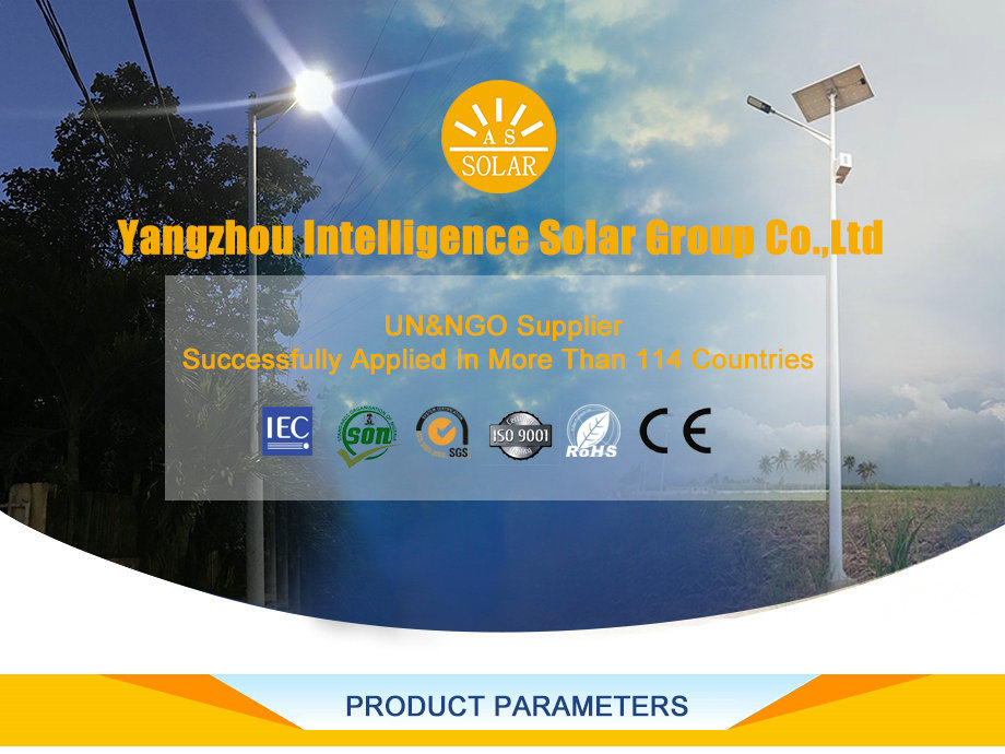 Hot Sale Outdoor Solar Street Lighting Pole Parking Lot