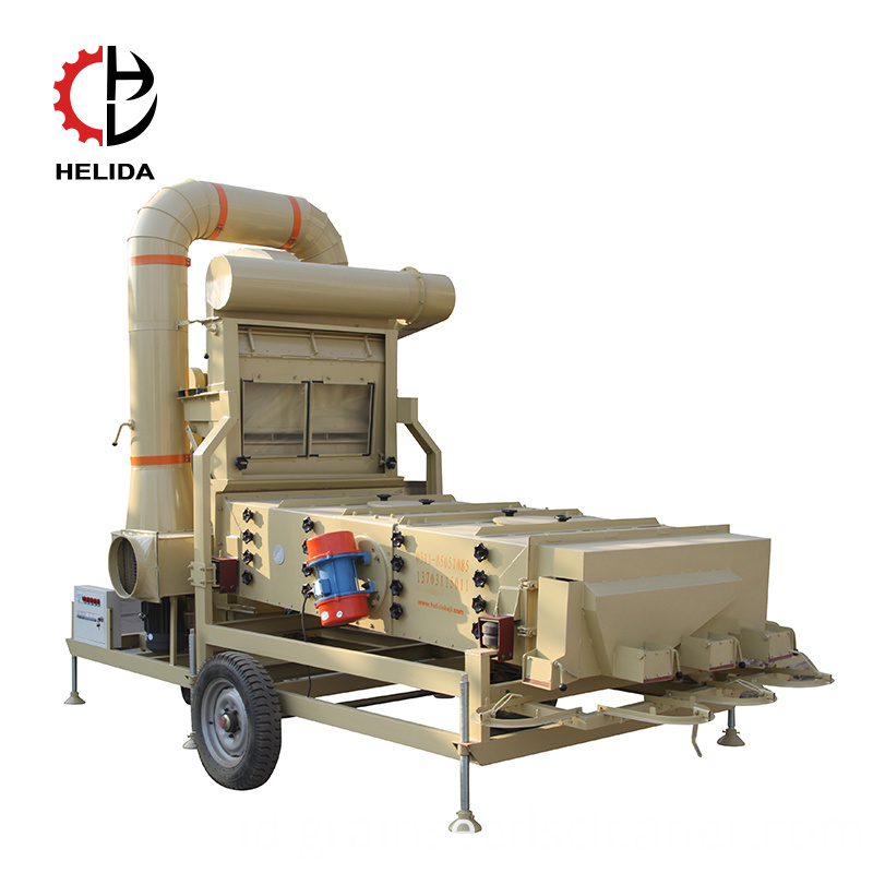 Nigeria widely used Salt Rice wheat mustard seeds maize cyclone garvity cleaner and destoner stoning screen machine