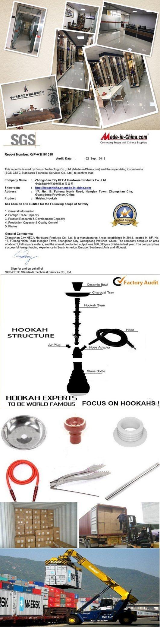 Wonderful Top Quality Hookah Aluminum Shisha Pipe Nargile Electronic Smoking