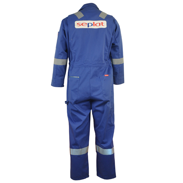 Blue Cotton Fire Retardant Reflcective Safety Workwear Coverall