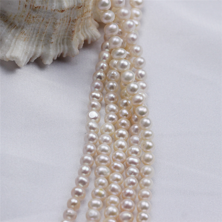 5mm AA Cheap Wholsesale Price Natural Pearl String Designs