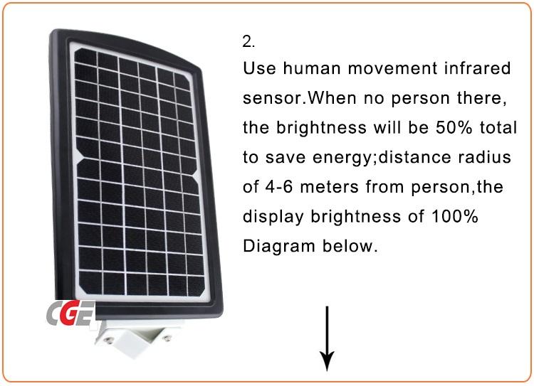 15 Watt High Lumen Outdoor All in One Solar LED Street Light Retrofit