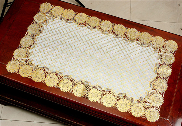 Popular PVC Placemat with Lace Gold Factory